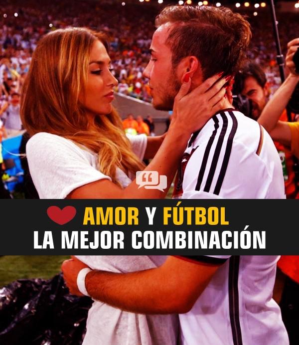 1. frase de fútbol con amor