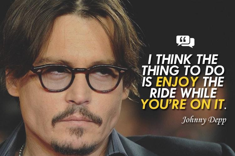 frases motivadoras de Johnny depp en ingles